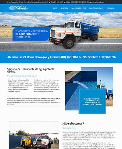 EESGAL | TRANSPORTE DE AGUA POTABL